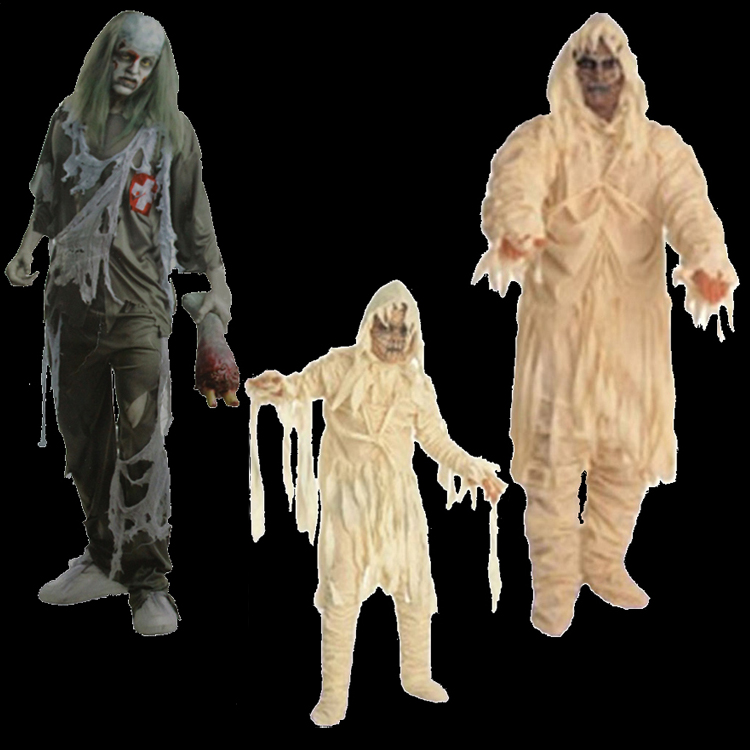 Man cheung cos halloween costume adult children's halloween costume horror zombie costume zombie costume
