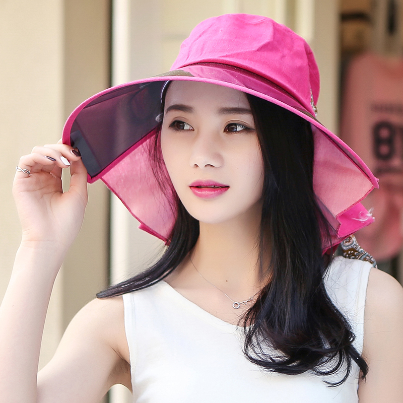 7d7f6ac7633 Get Quotations · 15 summer new korean version of the influx of outdoor shade  sun hat beach hat large