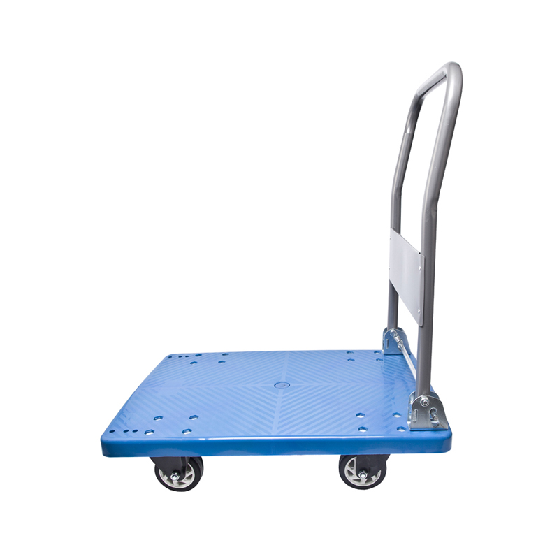 150KG logistics carts mute flatbed truck to move cargo courier management lorry unloading carts small carts folding