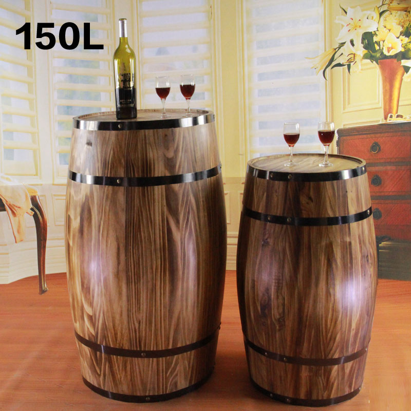 150l oak barrels decorative wooden props wooden kegs vertical wooden oak barrels oak wine barrels