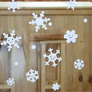 Company holiday personalized wall stickers christmas window glass wall stickers cafe pastry paper cute snowflake christmas