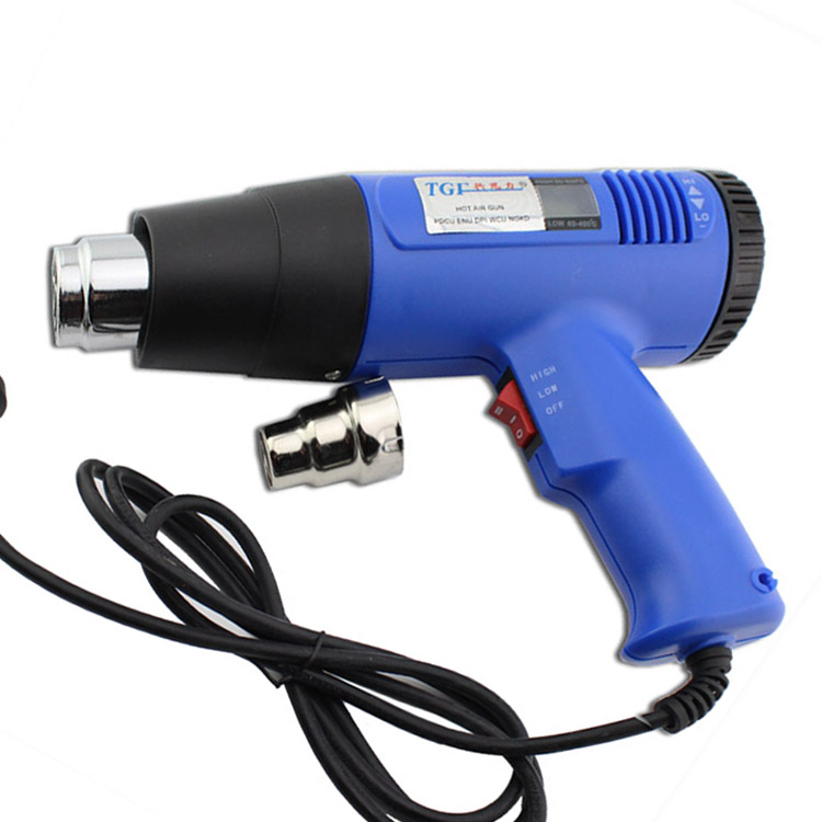 Promotional authentic tgfβ digital display hot air gun 1600W accurate thermostat lcd digital display adjustable amount of wind blowing mouth