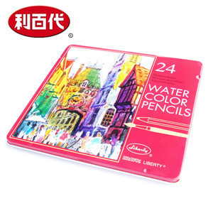 Lee emi liberty┃36 soluble color of lead soluble colored pencils 36 color iron boxed otherwise 24 colors 12 colors