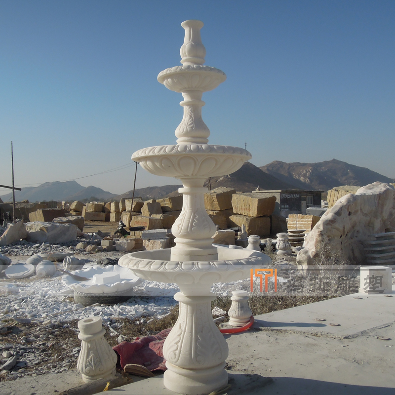 [Sculpture]鸿拓household outdoor small fountain marble fountain fountain marble fountain MF006