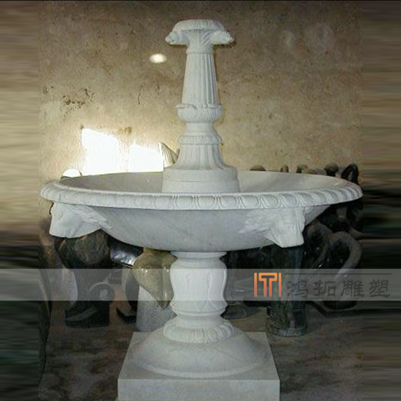 [Sculpture]鸿拓marble white marble fountain fountain fountain fountain plaza campus MF118
