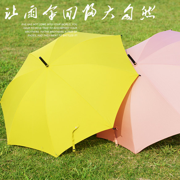 Free shipping oversized umbrella skillet creative outdoor shade umbrella sun umbrella automatic umbrella solid straight handle umbrella