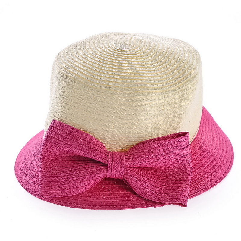 Kat decorated according to ms. summer princess bow pastoral style small straw hat straw hat sun hat 3 colors