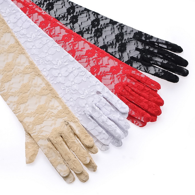 Kat decorated according to ms. summer outdoor sun lace gloves driving gloves thin gloves 4 colors