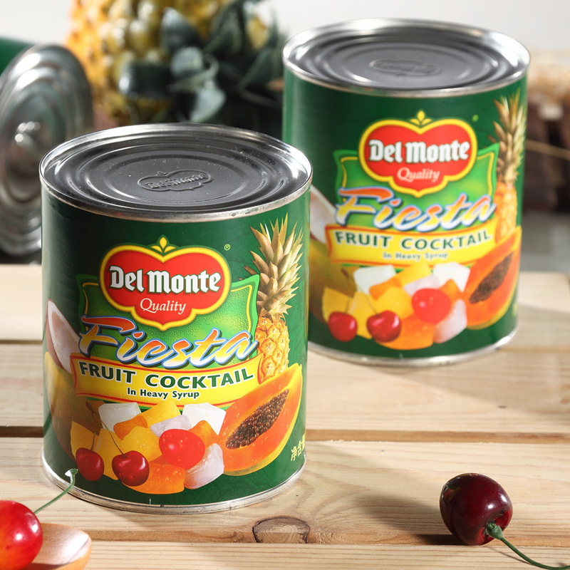 Del monte philippines imported tropical fruit syrup 850g canned fruit cocktail baking ingredients specials