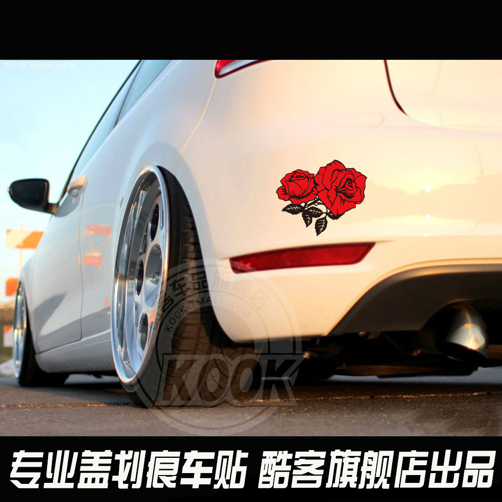 Get quotations · reflective car stickers funny car stickers car decals personalized car stickers cruze fox modified decorative roses
