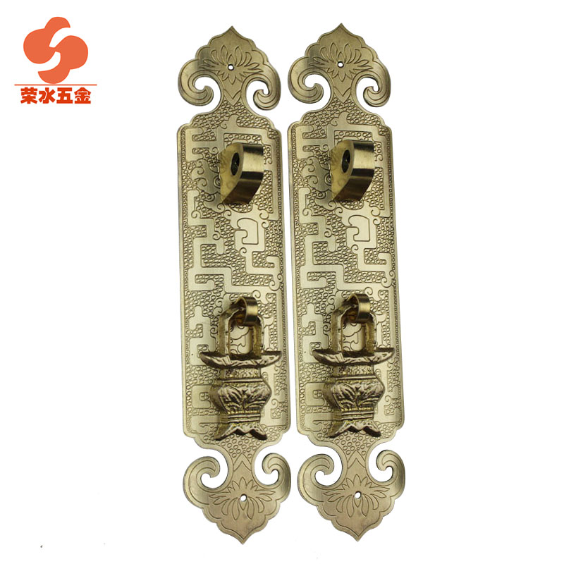 Rong water copper copper copper handle antique chinese cabinet door handle cabinet door handle classical handle long 18 cm f-085