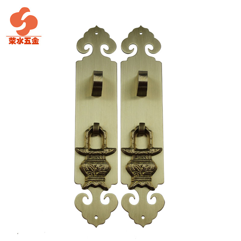 [Hardware] water wing chinese antique copper door handle door handle door handle straight handle long 15 cm F-057