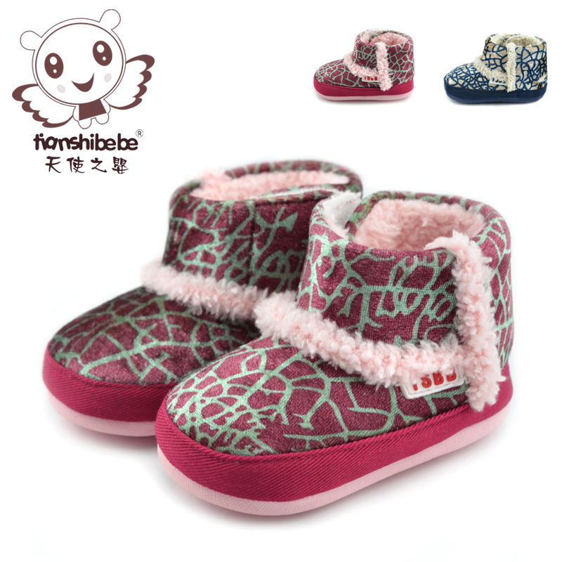 Angel infant baby shoes baby shoes slip soft bottom infant baby shoes for men and women baby shoes winter TS2023