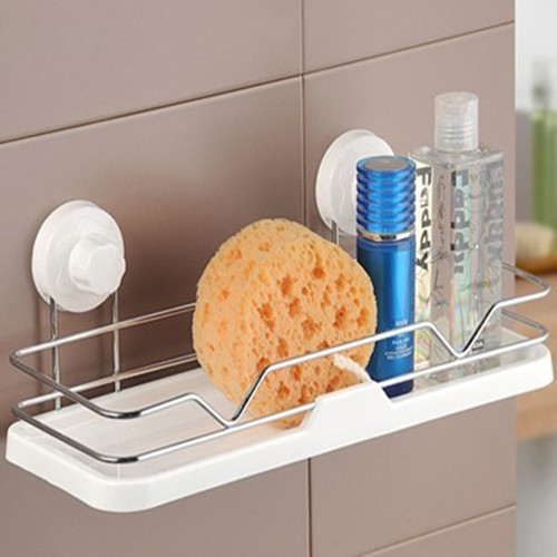 Double celebration sucker multifunction shelving 1939 dual kitchen storage basket storage basket storage rack angle bracket