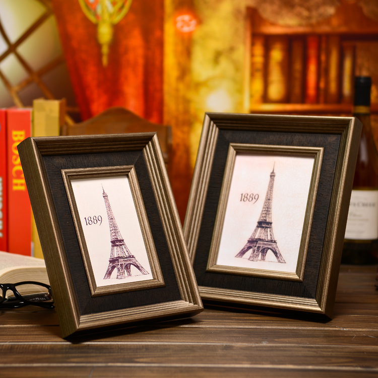 Photo frame european retro 7 10 large wall photo wall photo frame photo frame 7-inch photo frame picture frame swing sets custom frame