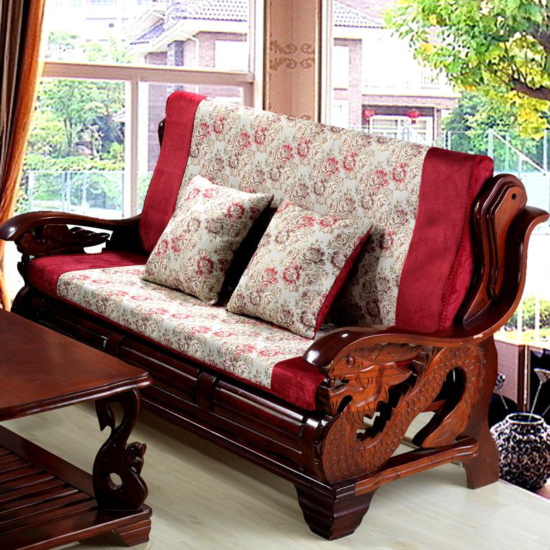 impressive cushion for wooden sofa set 9