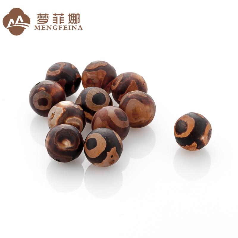 Dream fina three eye diameter 8 ~ 16mm natural agate beads tibetan old agate beads spacer beads loose beads