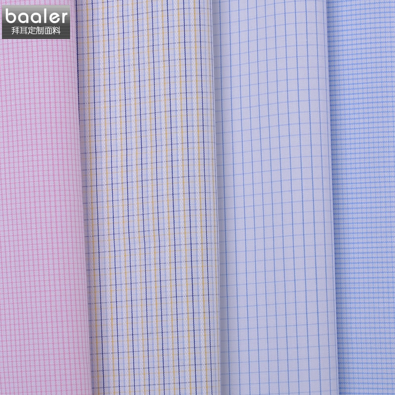 Bayer baaler shirt cotton plaid series of men's shirts custom tailored