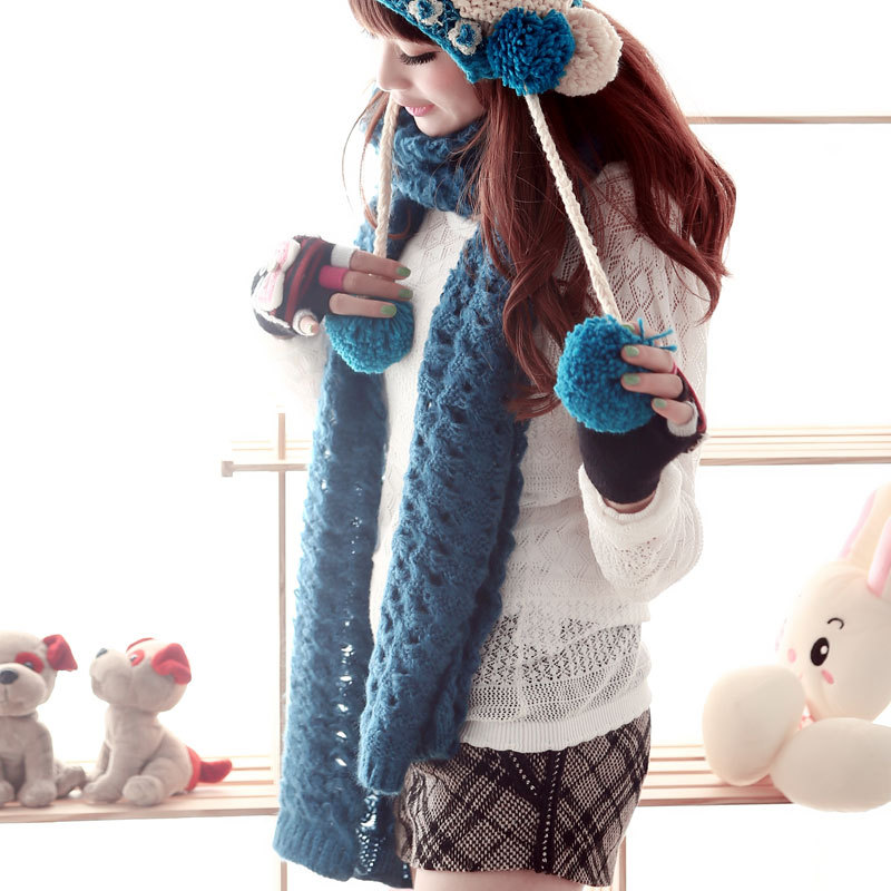 Cs charming smile korean version of the new korean leisure wild solid long warm wool scarves ms. fall and winter line days