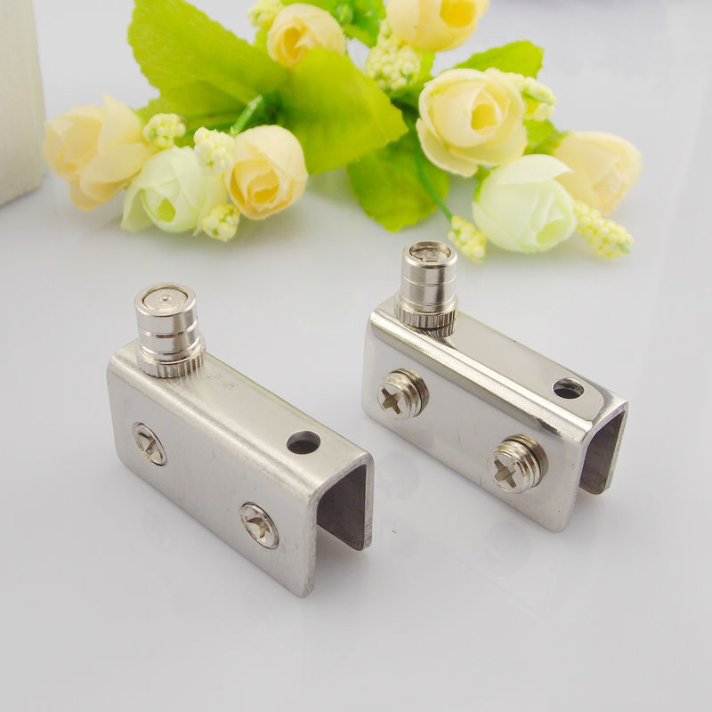 Squeak disabilities stainless steel glass hinge glass cabinet door hinge up and down the mall showcase glass door hinge