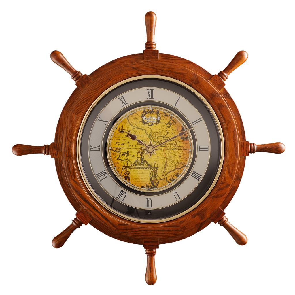 Lai sheng european retro wooden music wall clock movement wall clock quartz clock creative fashion living room light control