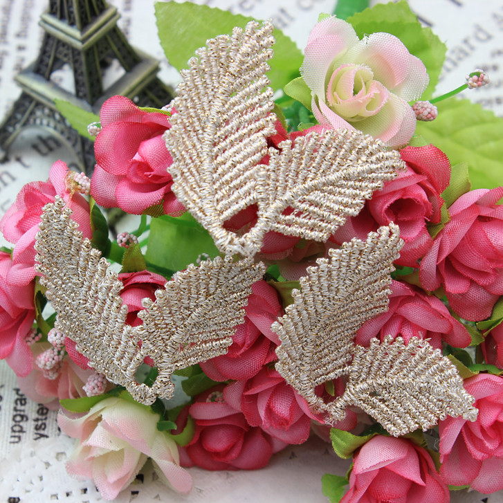 Cloth affixed clothing accessories lace cloth paste gold accessories flower diy handmade headdress hairpin material