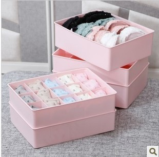 Free shipping underwear storage box finishing three sets of three plastic underwear drawer box creative socks bra underwear
