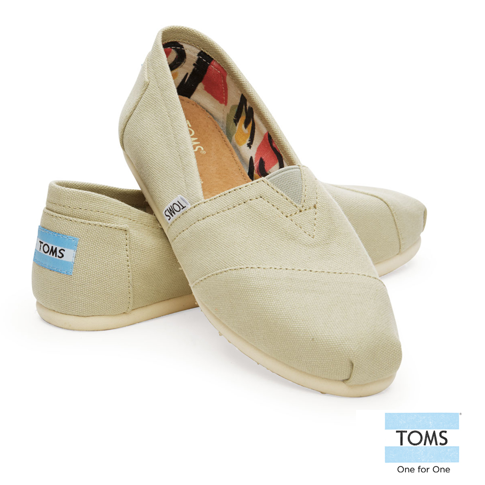 Toms classic lazy shoes canvas shoes-women (light green) 10004877 agate