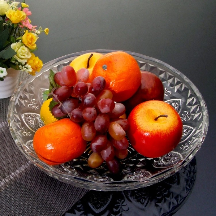 Transparent fashion creative fruit plate fruit plate snack plate fruit plate glass plate dried fruit compote dish candy dish salad dish dish dish