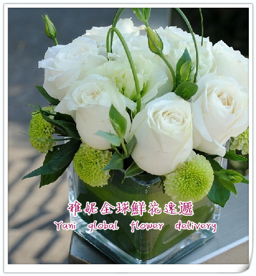 Hong kong conference table flowers flower delivery florist flowers order flowers speak taiwan flower corsage of white roses booking HKCC04