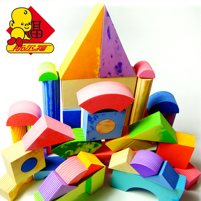 Sier fu eva software building blocks of children under the age of enlightenment toys 1-2-3-6-10 teach early childhood building blocks of foam