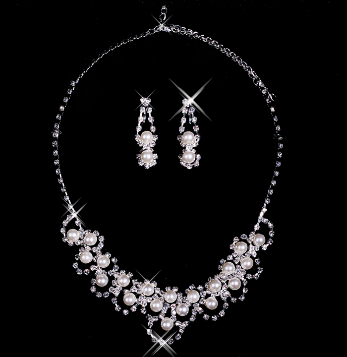 Bai approximately necklace bridal necklace earring piece bridal jewelry accessories xl11009