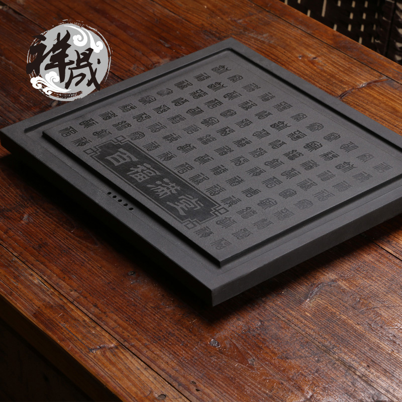 Xiang sheng pfaff full ukrainian natural stone stone tea tray stone tea sets carved craft inblock stone tea tray specials