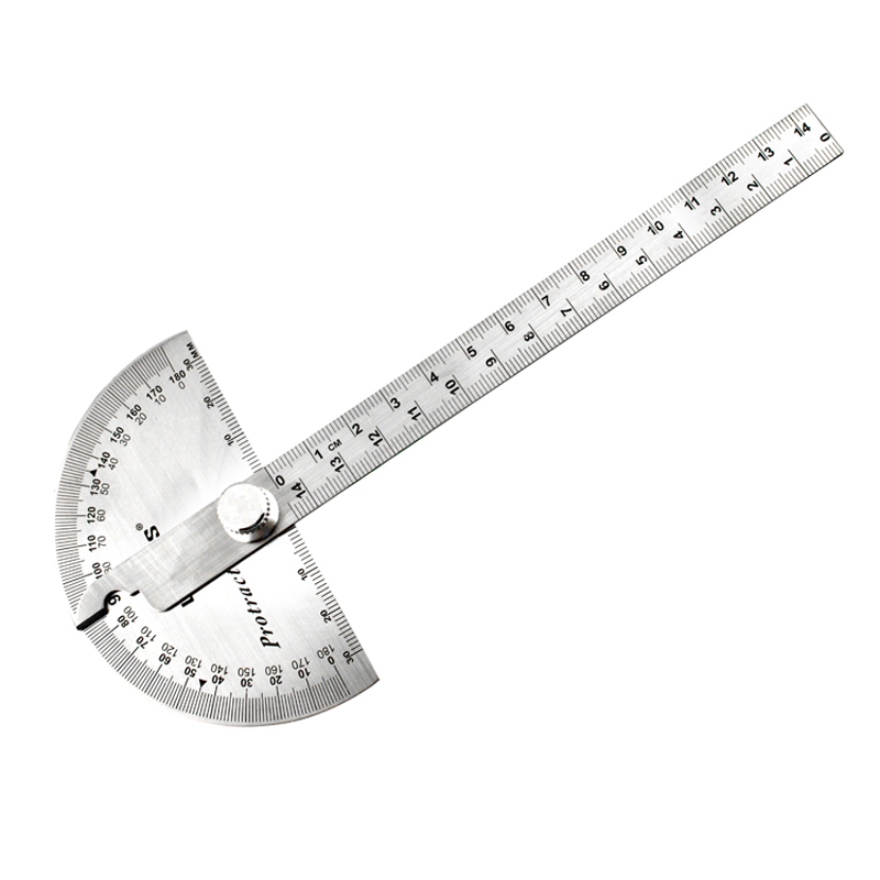 Power of the lion tool protractor angle ruler indexing gauge stainless steel angle gauge square woodworking ruler protractor