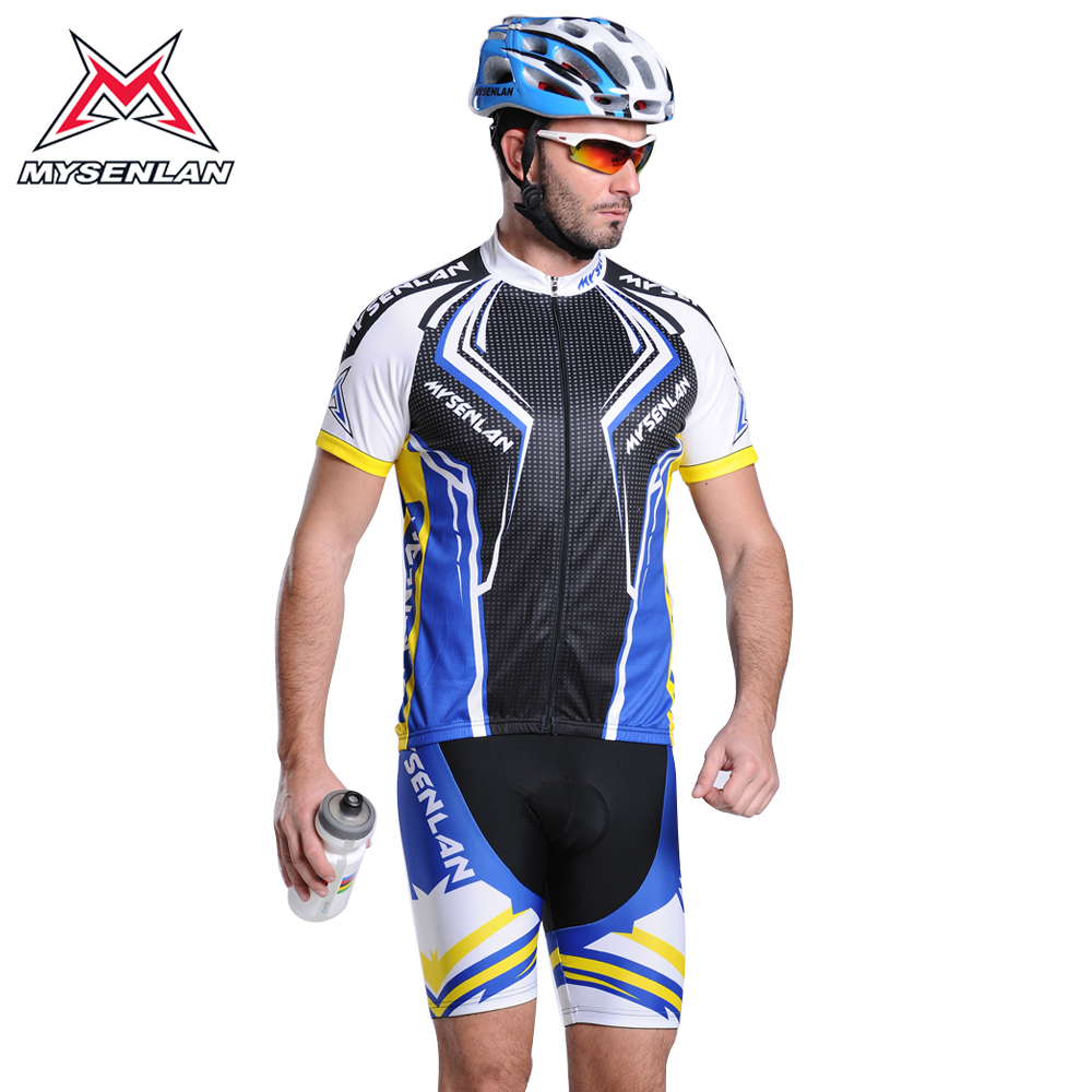 Mai senlan blue devils short sleeve cycling jersey bicycle clothing suit jersey short sleeve suit male new
