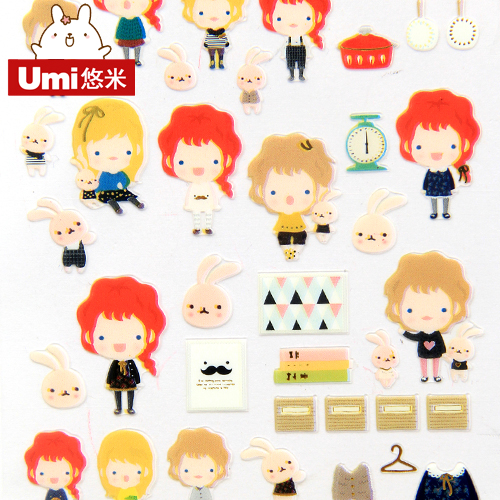 Umi korea stationery cute stickers redheads phone sticker diy diary decorative stickers affixed stickers