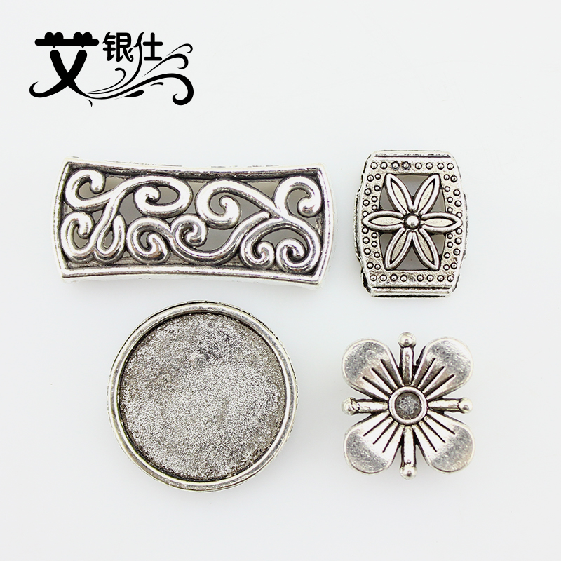 Ai yinshi diy semifinished direct imitation tibetan silver beaded material accessories tibetan silver jewelry bracelet jewelry accessories