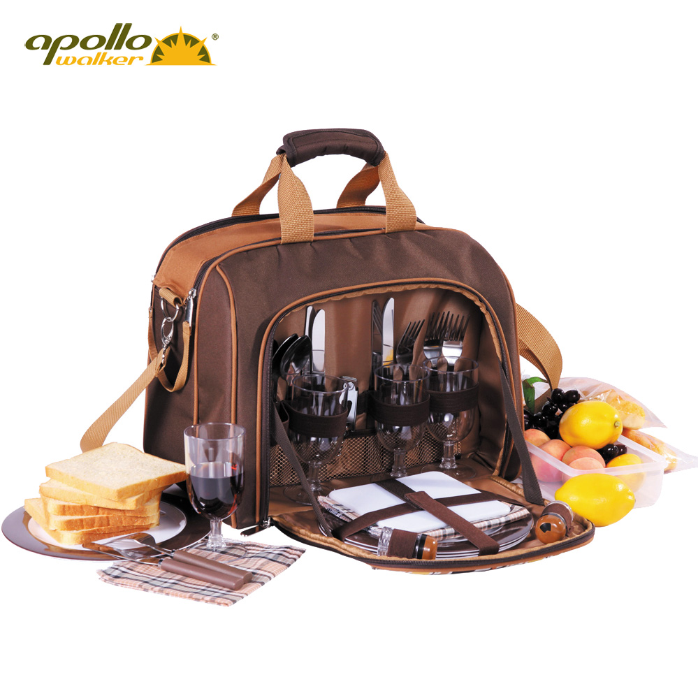 Apollo mention collapse of the eu code of four servings cutlery sets portable outdoor picnic cooler bag picnic bag picnic bag picnic barbecue package