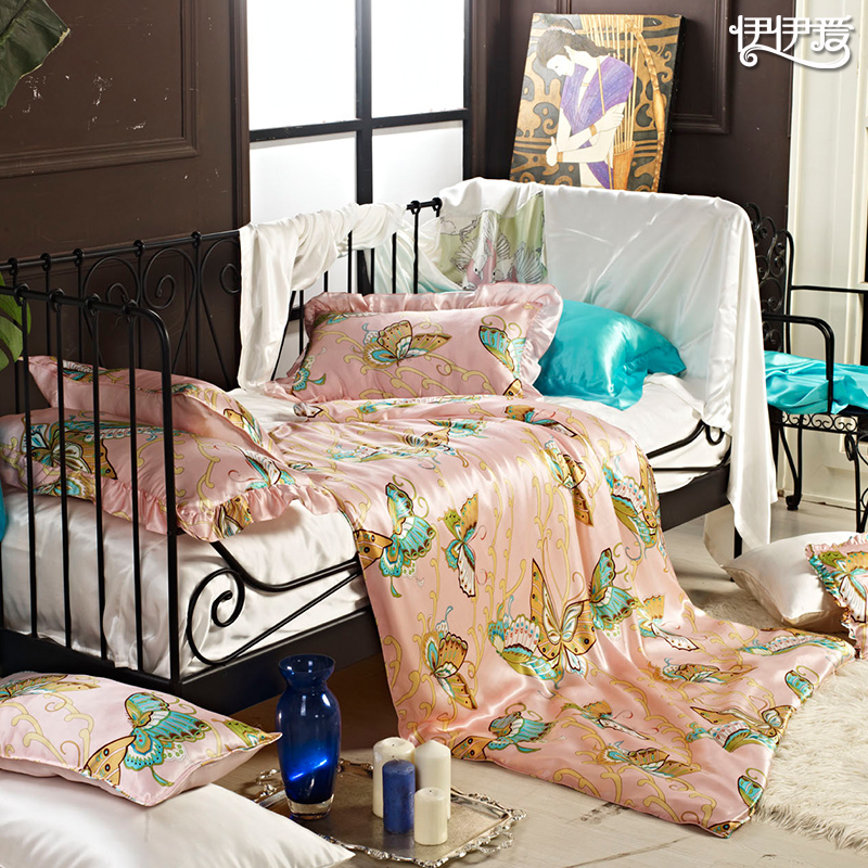 Yiyi love silk three sets of children more than sets of + 1 pieces of silk quilt children's beds on supplies