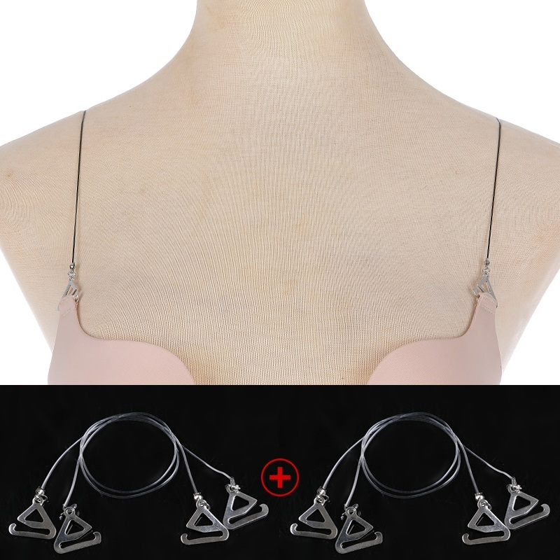2 korean elastic rope ultrafine female underwear bra straps slip shoulder strap transparent invisible anti emptied halter with