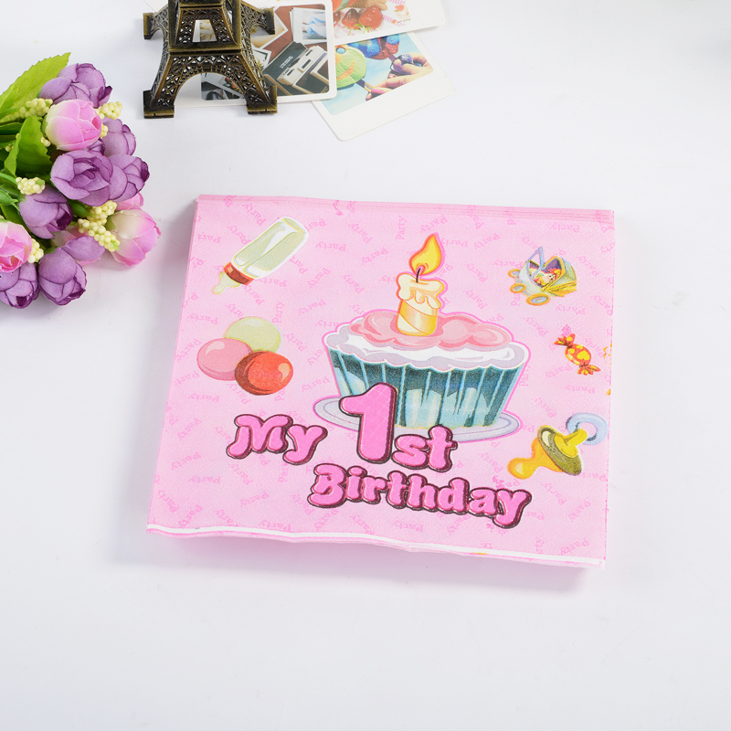 20 children's pattern baby birthday birthday party supplies wedding wedding arrangements wedding napkins paper towels