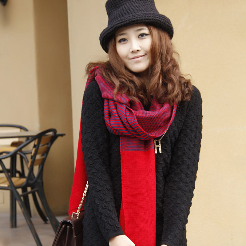 2015 korean winter wool scarf autumn and winter scarf female korean version of the influx of men paul warm thick scarf song xinier