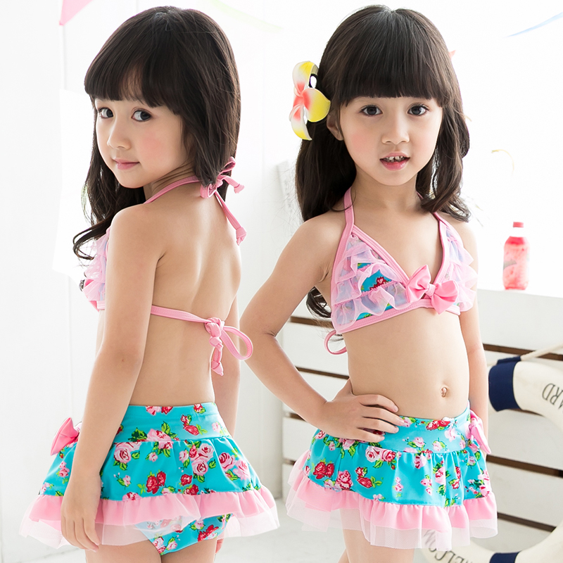 5c0b8e5a72f94 Get Quotations · 2015 new hot explosion models cute baby girls split lace bikini  swimsuit children