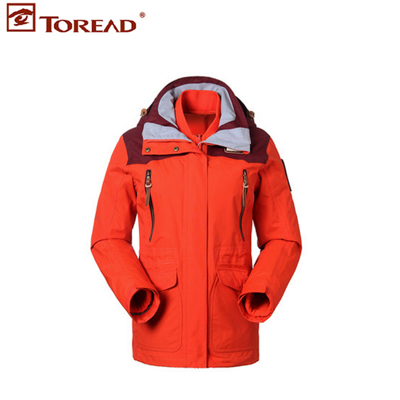 2015 new winter pathfinder jackets jackets women's waterproof and breathable cashmere travel set raincoat tawd92794