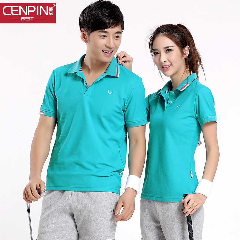 2015 summer new short sleeve sports t-shirts for men and women couple models breathable casual sports polo shirt thin section