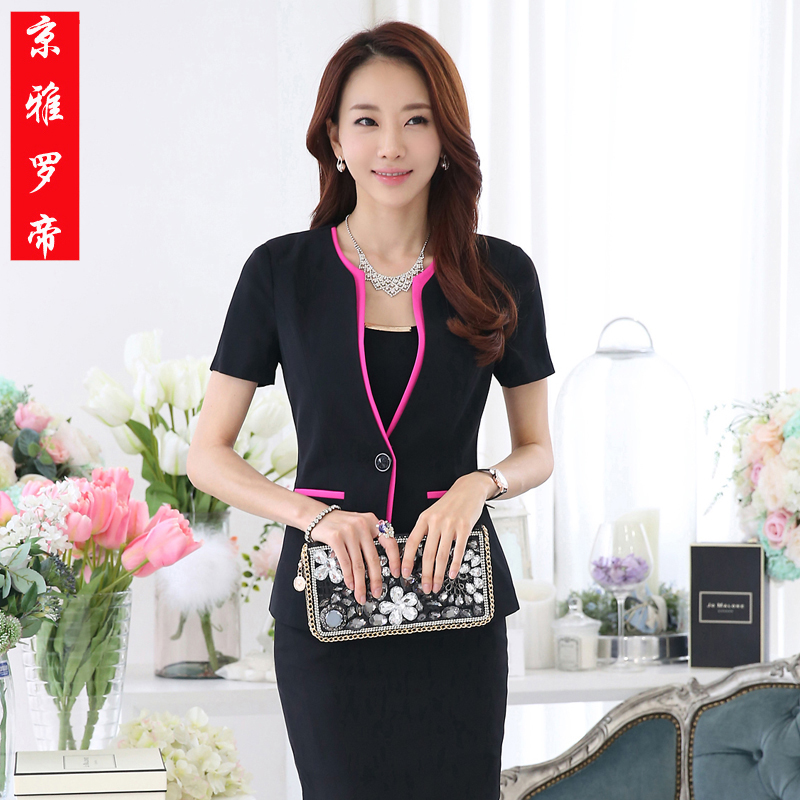 01b974b3e958 Get Quotations · 2015 summer ol ladies wear suits ladies dress xiu body short  sleeve skirt suit overalls interview