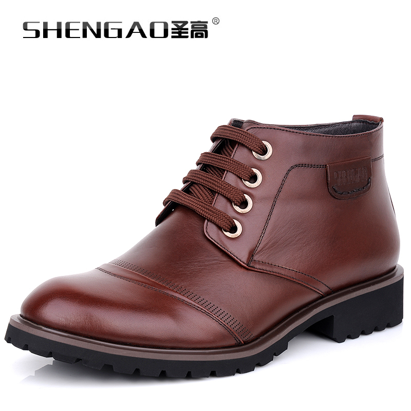 2015 winter high holy men's high to help men's high shoes men's lace warm cotton leather shoes