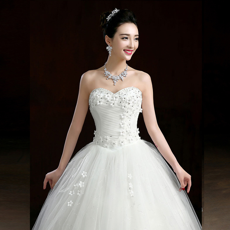 2015 winter new bride wedding dress korean bra qi large yards pregnant women high waist wedding dress was thin slim