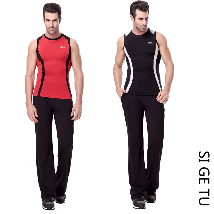 2015 Y0151 + K0159 sige figure aerobics clothing aerobics gym sportswear jogging workout clothes men