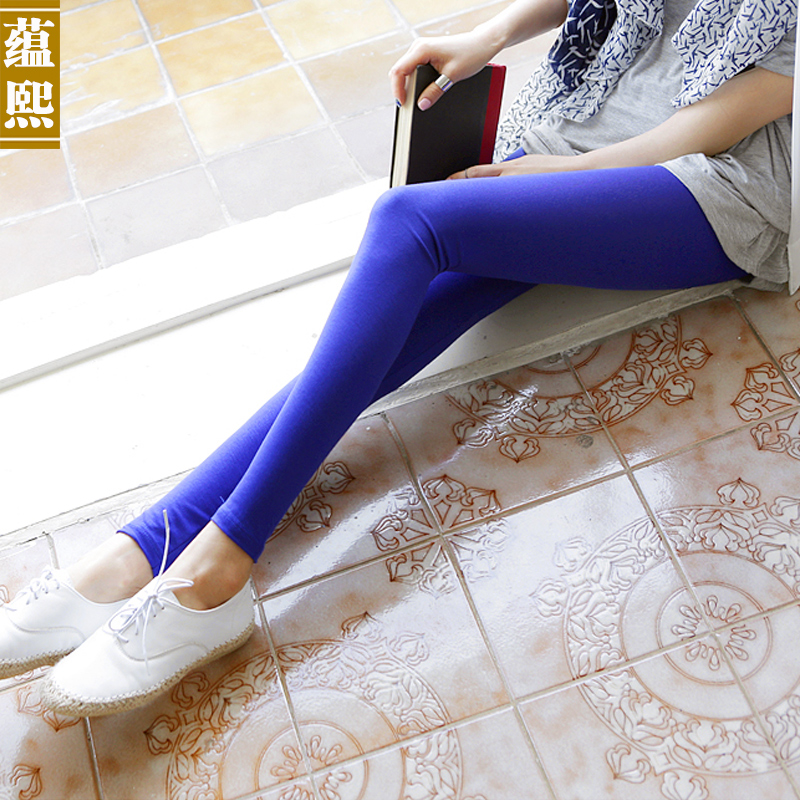 2016 autumn and summer new large size slim was thin gray pencil pants stretch thin outer wear leggings pantyhose female